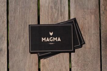 Logo / Carte de visite de la marque de bijoux Magma